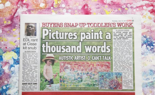 Iris in The Sun Newspaper