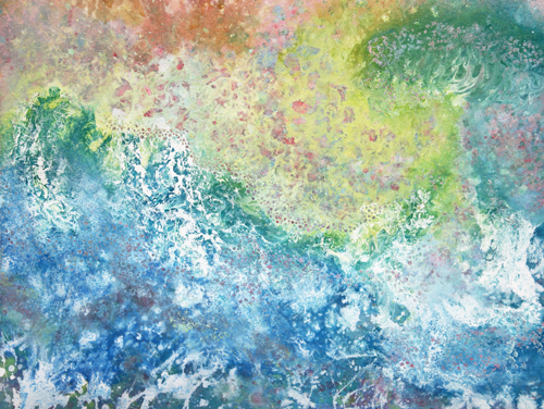 Iris Grace Painting Octavia thula autistic girl paints